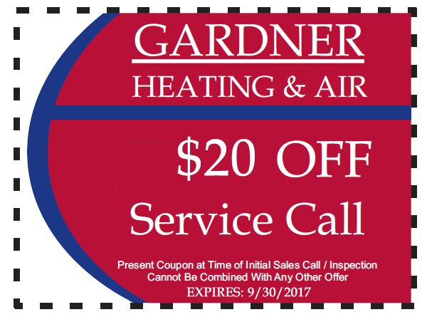 Gardner Heating & Air Inc Coupon Asheboro Randolph County